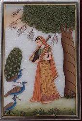 Ragmala painting on marble plate
