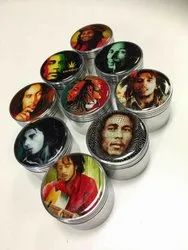 63 Mm Metal Grinders With Stickers Bob Marley