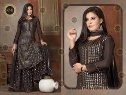 KNS Pure Chinon Ethnic Sharara Suit