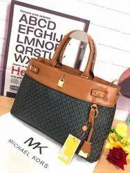 Printed Handbags Michael Kors Handbag, For Office, Size: H-12 W-15