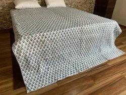 Jaipuri Block Printed Machine Quilts, Size: 90 x 108 Inches
