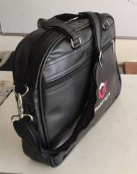 Rotika Creation Black PU Leather Messenger Bag