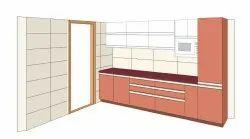 Modern Modular Kitchen Designer Service, Work Provided: Wood Work & Furniture