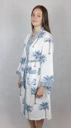 Beautiful Palm Tree Printed Lady Kaftan