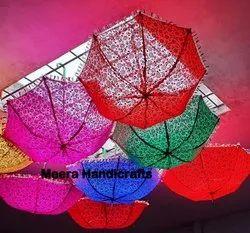 Meera Handicrafts Multicolor Printed Umbrella
