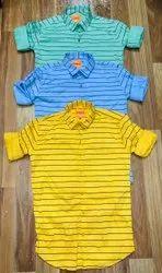 Cotton Drill Twill Men Casual Shirt, Size: Mlxl