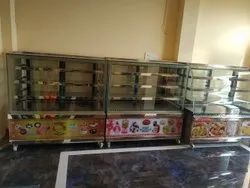 steel Metal SS Display Counter, For Restaurant