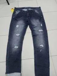Regular Fit Button Mens Rough Denim Jeans