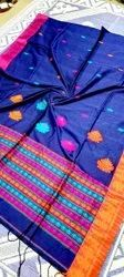 Mulmul Cotton Hand Weaving Sarees