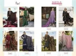 Cotton Party Wear Shree Fabs Maria B Embroidered Suits
