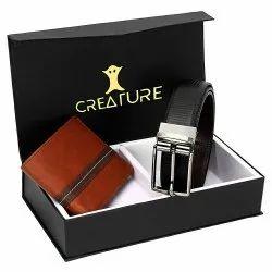 Creature PU Leather Wallet & Belt Combo