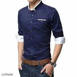 Blue John Plain Tom scott cotton solid shirts