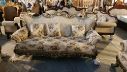 Wooden Modern Traditional Sofa Set, Living Room, Size: Standard