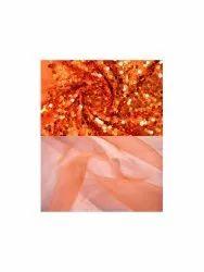 Party Plain silk organza saree with sequin blouse piece