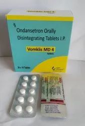 Ondensetron 4 Mg Orally Disintegrating Tablets
