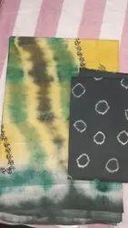 Casual Wear Cotton Net Saree, 5.5 m