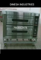 Double Deck Four Tray Electric Deck Oven
