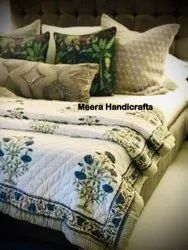 Hand Block Printed Quilts And Cushion Covers Made By Custom Order