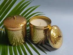 Gold Hammered Scented Tins