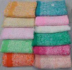 Chikankari Multicolor Dupatta Allover Embroidery