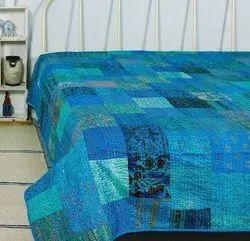 Patchwork Kantha Bedcover Bedspread