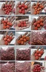 Red Round Jewellery Glass Beads, For Jewelry Making