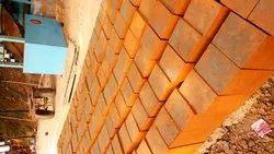 Soil Rectangular Red Latarete Bricks, Size: 12x8x6