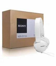 Wired White Sony Headphone