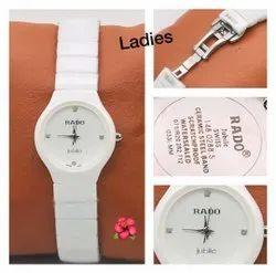 Women Round Rado Wrist Watch Ceramic For Ladies, For Personal Use