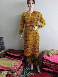 Cotton Casual Wear Ladies Designer wollen kurties, Handwash