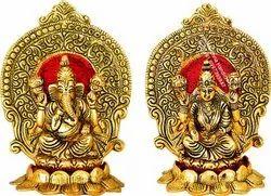 Gold Plated Pan India Laxmi Ganesh