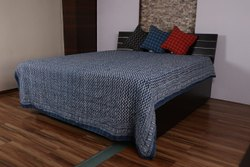 Indigo Jaipuri Bedspread Blankets