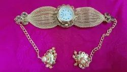 Riddhi siddhi Women Brecelate with watch, For Personal Use