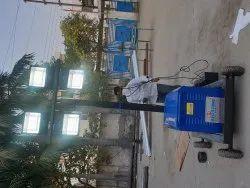 LED White Tower Light, 15 Ft, Diesel Generator
