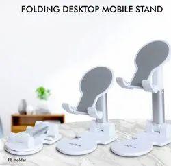 Folding desktop mobile stand