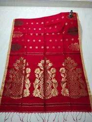 Handloom Cotton Silk Jamdani Saree