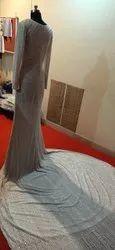 White Net Bridal Wedding Gown