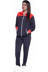 Sports Blue Full Sleeves NS Lycra Girls Tracksuit
