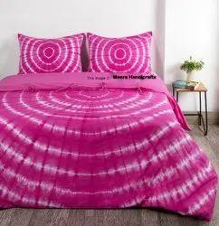 Pink Shibori Duvet Covers