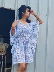 Cotton Gown Womens Printed Kaftan