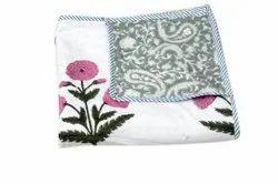 Block Printed Baby Dohar Blanket