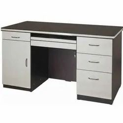Wooden Office Tables, 1 Year, Brown And White