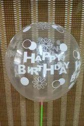 Happy Birthday Transparent Balloons, Size: 12