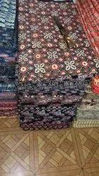 Meera Handicrafts 100% Ajrak Block Print Fabric
