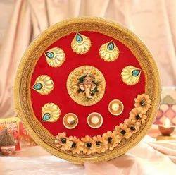 Beautiful Hand Decorated pooja Thali
