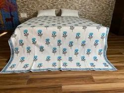 Hand Block Machine Quilted Quilts