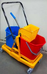 Double Mopping Trolley 40 liters, For Industries, Model Name/Number: JCDMP01