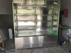 Stainless Steel Free Standing Unit Fruits And Vegetable Racks Chiller, For Supermarket, Model Name/Number: GDF-5320