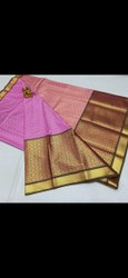 Border Wedding Kanchipuram Butts Saree, 6 M (With Blouse Piece)