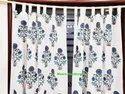 Hand Block Mugal Buta Print Curtain